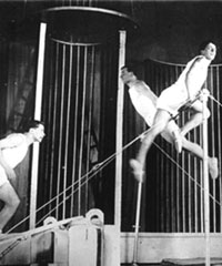 Production photograph of Mayakovsky's The Bedbug, directed by Meyerhold, 1929 (Huntly Carter Collection, SCRSS Photo Library)